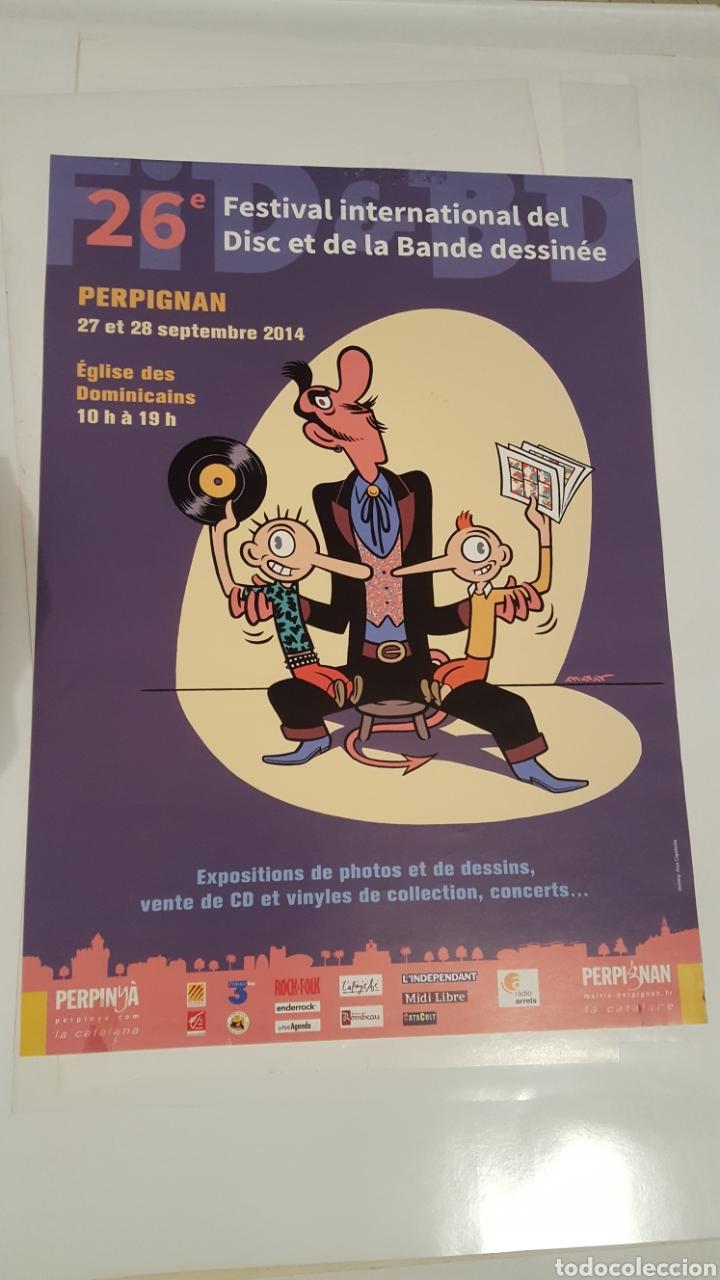 MAX - FESTIVAL INTERNATIONAL DEL DISC - POSTER FESTIVAL INTERNATIONAL DEL DISC ET LA BANDE DESSINEE (Tebeos y Comics - La Cúpula - Autores Españoles)