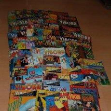 Cómics: LOTE 68 COMICS EL VIBORA MÁS 10 ESPECIALES MÁS CARTEL OPERACION ZIPPY. Lote 135132710