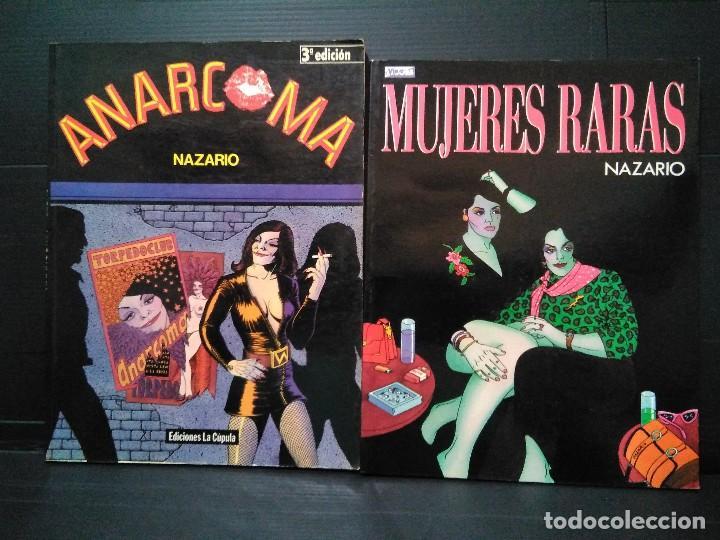LOTE NAZARIO. ANARCOMA + MUJERES RARAS. ED LA CÚPULA, 1988 (Tebeos y Comics - La Cúpula - Autores Españoles)