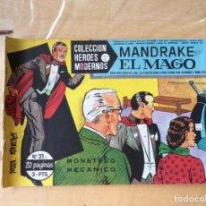Cómics: MANDRAKE EL MAGO.COLECCION HÉROES MODERNOS.NUMERO 21. Lote 139327934