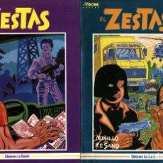 Fumetti: EL ZESTAS 1 Y 2. COMPLETA (LA CÚPULA, 1988 Y 1990) DE MURILLO Y RESANO. Lote 140483038