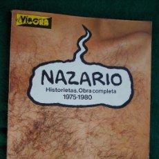 Cómics: NAZARIO HISTORIAS OBRAS COMPLETAS 1975-1980 VIBORA. Lote 143240894