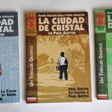 Cómics: LA CIUDAD DE CRISTAL. EL CÓMIC DE MAZZUCCHELLI SEGÚN LA NOVELA DE PAUL AUSTER. MUY BUENO. Lote 143152478