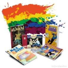 Cómics: CÓMICS. PACK NOVELA GRÁFICA ESPECIAL LGTB. 5 CÓMICS - VARIOS AUTORES DESCATALOGADO!!! OFERTA!!!. Lote 144512326