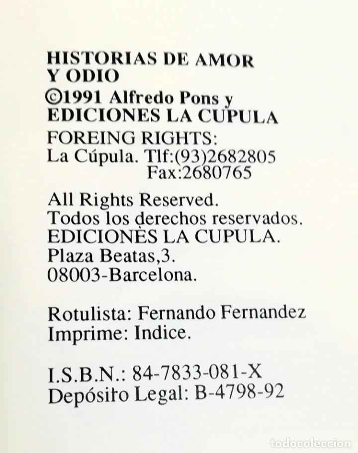Cómics: Historias de Amor y Odio. Alfredo Pons. La Cúpula, Víbora Comix - Foto 3 - 147499354