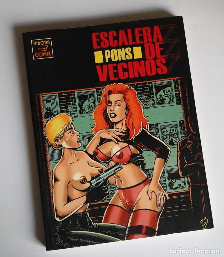 ESCALERA DE VECINOS, DE PONS, VÍBORA COMIX, NOVELA GRÁFICA. COMO NUEVO (Tebeos y Comics - La Cúpula - Autores Españoles)