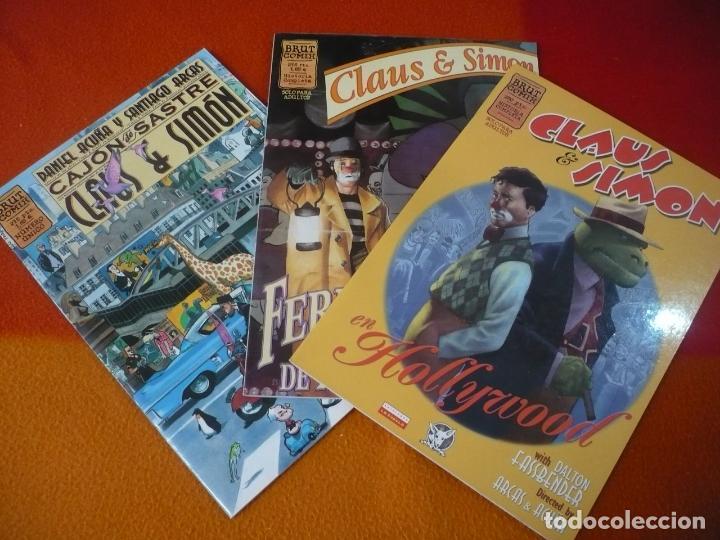 CLAUS & SIMON EN HOLLYWOOD + CAJON DE SASTRE + FERIA DE MONSTRUOS ¡COMPLETA! ¡MUY BUEN ESTADO! (Tebeos y Comics - La Cúpula - Comic Europeo)