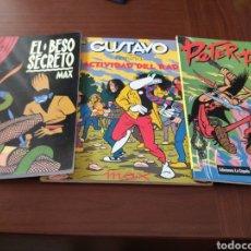 Cómics: LOTE MAX: EL BESO SECRETO, GUSTAVO CONTRA LA ACTIVIDAD DEL RADIO, PETER PANK. Lote 151812629