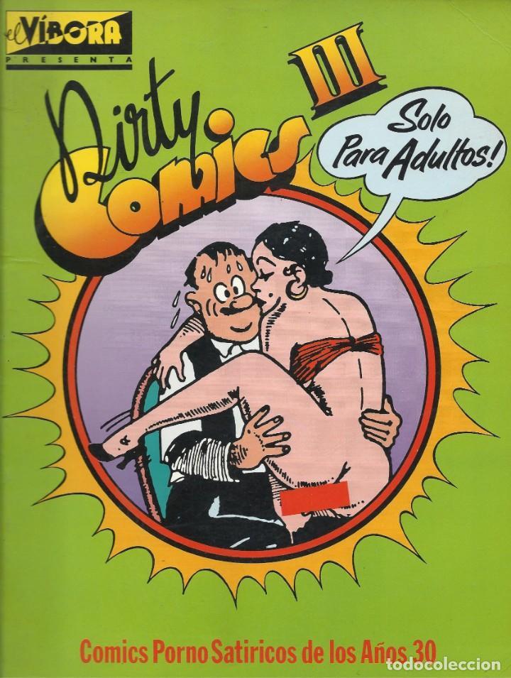 DIRTY COMICS III. COMICS PORNO SATÍRICOS DE LOS AÑOS 30 (Tebeos y Comics - La Cúpula - El Víbora)