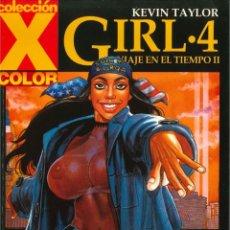 Comics : COLECCION X COLOR Nº 118. GIRL 4, VIAJE EN EL TIEMPO II. KEVIN TAYLOR. EDICIONES LA CUPULA. Lote 152868830