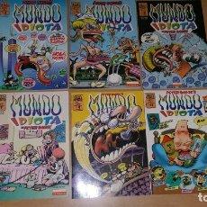 Cómics: 8 COMICS MUNDO IDIOTA POR BAGGE Y EL RESENTIDO BRUT COMIX. Lote 180173810