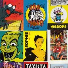 Cómics: 28 MINI POSTALES Y CALENDARIOS DIFERENTES DE EDICIONES LA CÚPULA, 1981 A 1984 - CLC. Lote 166820982