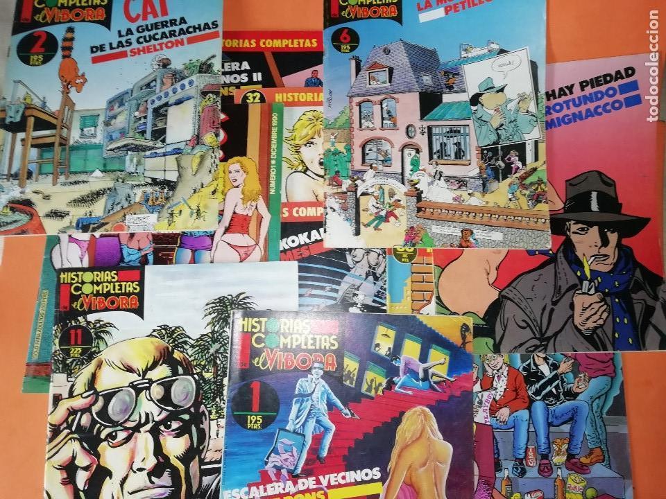 LOTE DE 11 HISTORIAS COMPLETAS DE EL VIVORA. Nº 1, 2,6,8,9,11,12,15,32,36 Y Nº 1 VIVORA COMIX (Tebeos y Comics - La Cúpula - El Víbora)