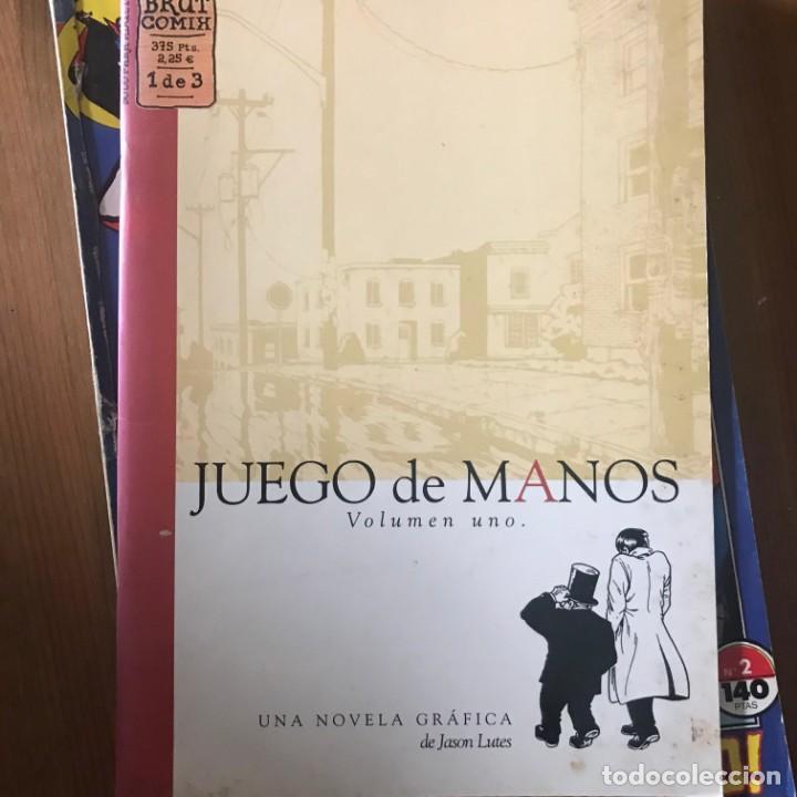 JASON LUTES - JUEGO DE MANOS Nº 1 - BRUT COMIX LA CÚPULA 1999 (Tebeos y Comics - La Cúpula - Comic USA)