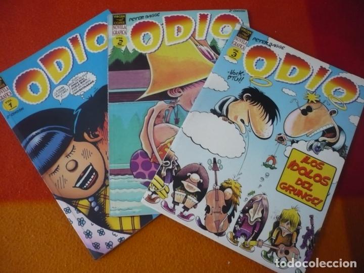 ODIO NºS 1, 2, Y 3 ( PETER BAGGE ) ¡BUEN ESTADO! LA CUPULA VIBORA COMIX (Tebeos y Comics - La Cúpula - El Víbora)