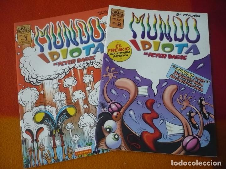 MUNDO IDIOTA NºS 1 Y 2 ( PETER BAGGE ) ¡BUEN ESTADO! LA CUPULA VIBORA COMIX (Tebeos y Comics - La Cúpula - El Víbora)