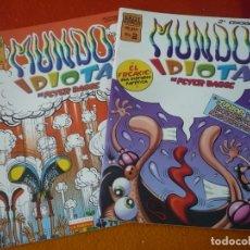 Cómics: MUNDO IDIOTA NºS 1 Y 2 ( PETER BAGGE ) ¡BUEN ESTADO! LA CUPULA VIBORA COMIX. Lote 176251779