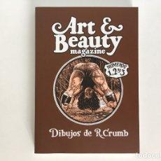 Cómics: ART & BEAUTY MAGAZINE NÚMEROS 1, 2 Y 3, DE ROBERT CRUMB. LA CÚPULA.. Lote 177005927