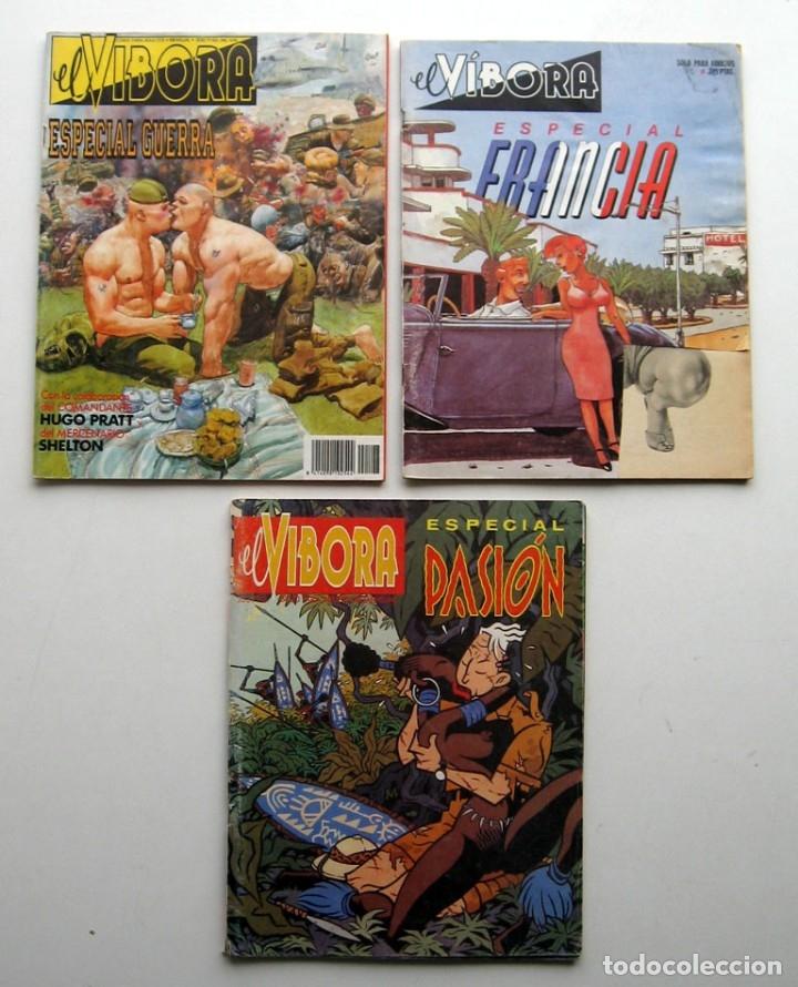 TRES ESPECIALES EL VIBORA: ESPECIAL FRANCIA - ESPECIAL GUERRA - ESPECIAL PASIÓN (Tebeos y Comics - La Cúpula - El Víbora)