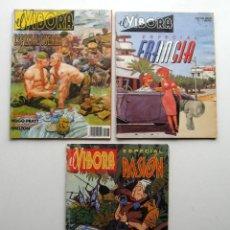 Cómics: TRES ESPECIALES EL VIBORA: ESPECIAL FRANCIA - ESPECIAL GUERRA - ESPECIAL PASIÓN. Lote 177374980