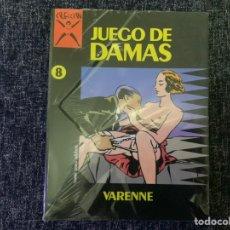 Cómics: JUEGO DE DAMAS, COLECCION X Nº 8 /POR: VARENNE - COMIC EROTICO - EDITA : EDICIONES LA CUPULA NUEVO. Lote 180387533