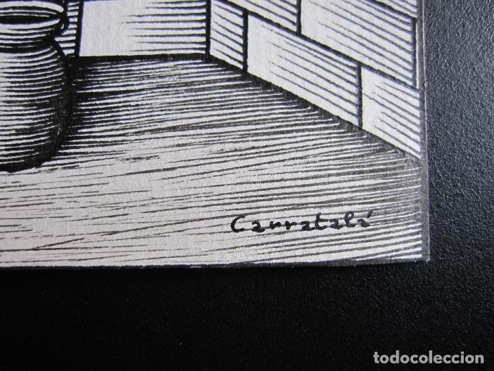 Cómics: ERNESTO CARRATALÁ. DIBUJANTE VIBORA. ORIGINAL A TINTA. 9,5 X 13,2 CM - Foto 2 - 181192676