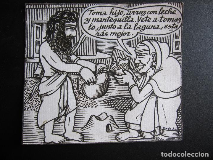 ERNESTO CARRATALÁ. DIBUJANTE VIBORA. ORIGINAL A TINTA. 11 X 12,5 CM (Tebeos y Comics - La Cúpula - El Víbora)