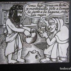 Cómics: ERNESTO CARRATALÁ. DIBUJANTE VIBORA. ORIGINAL A TINTA. 11 X 12,5 CM. Lote 181193560