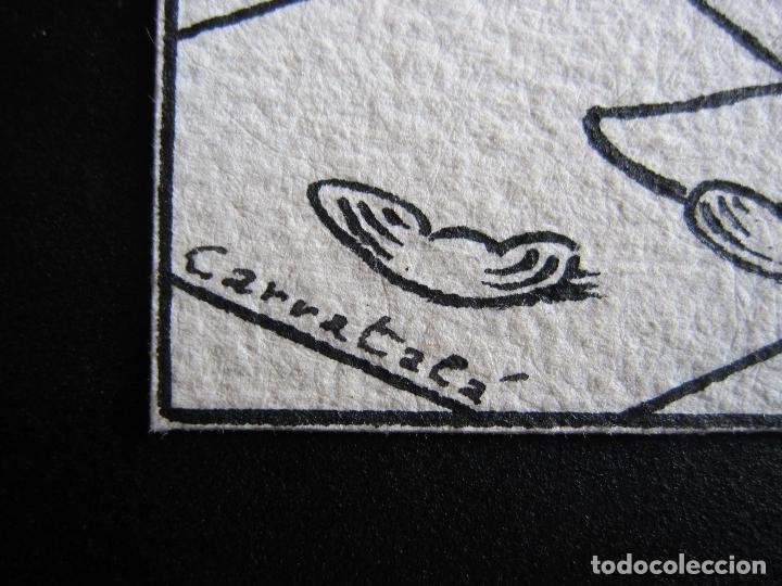 Cómics: ERNESTO CARRATALÁ. DIBUJANTE VIBORA. ORIGINAL A TINTA. 12 X 8,8 CM - Foto 2 - 181193782