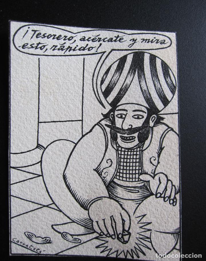 ERNESTO CARRATALÁ. DIBUJANTE VIBORA. ORIGINAL A TINTA. 12 X 8,8 CM (Tebeos y Comics - La Cúpula - El Víbora)