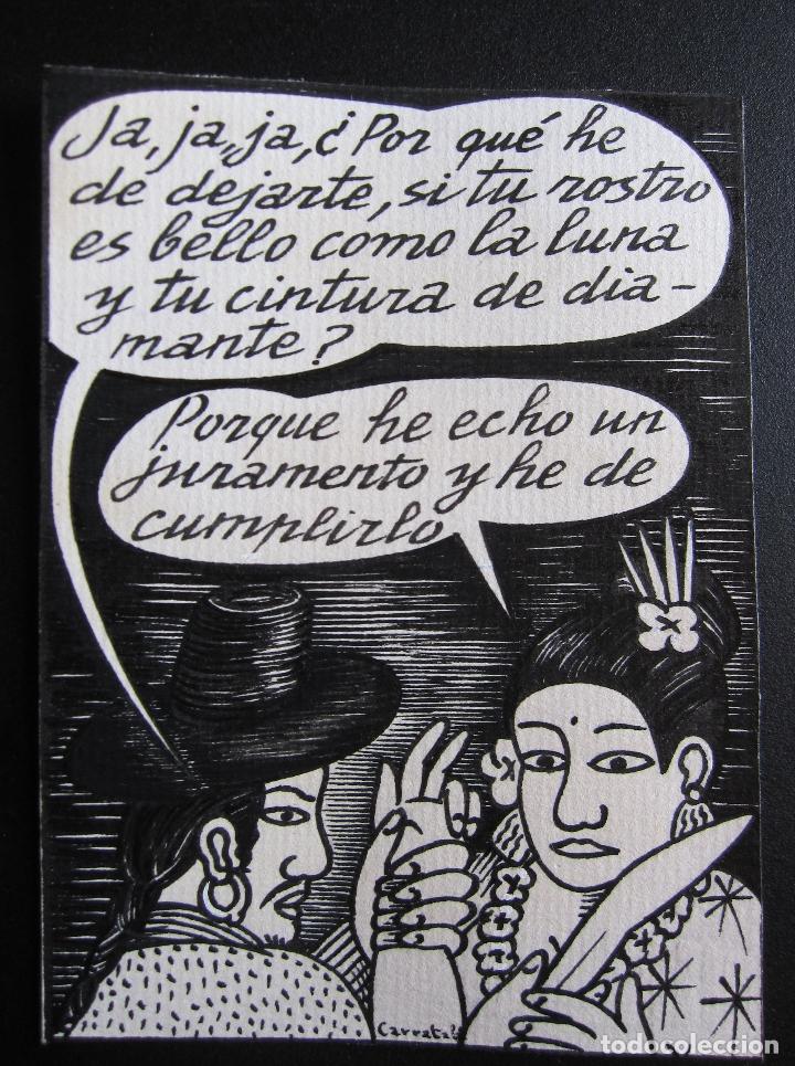 ERNESTO CARRATALÁ. DIBUJANTE VIBORA. ORIGINAL A TINTA. 11,4 X 8,4 CM (Tebeos y Comics - La Cúpula - El Víbora)