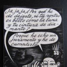 Cómics: ERNESTO CARRATALÁ. DIBUJANTE VIBORA. ORIGINAL A TINTA. 11,4 X 8,4 CM. Lote 181193885