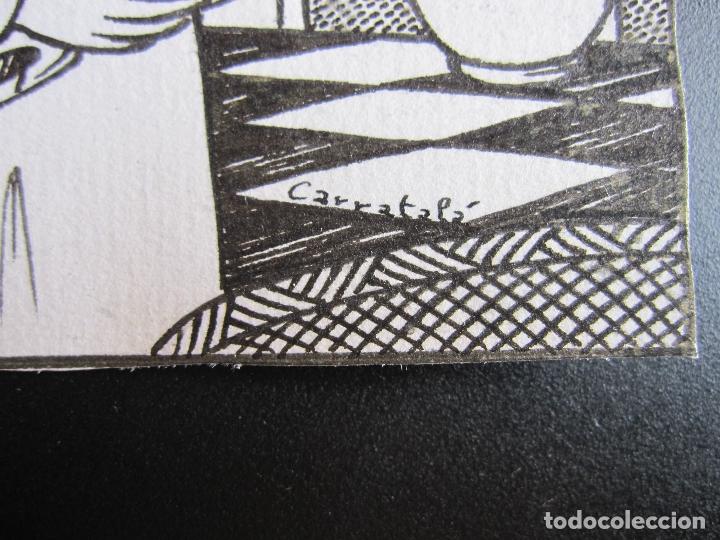 Cómics: ERNESTO CARRATALÁ. DIBUJANTE VIBORA. ORIGINAL A TINTA. 11 X 8 CM - Foto 2 - 181194107