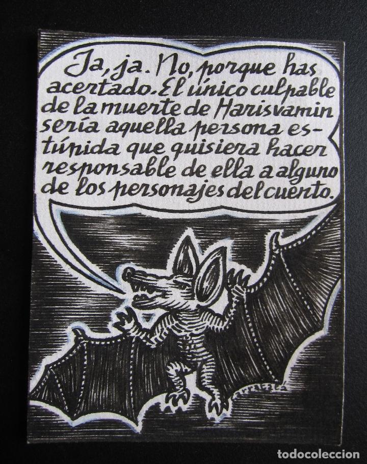ERNESTO CARRATALÁ. DIBUJANTE VIBORA. ORIGINAL A TINTA. 10,5 X 8 CM (Tebeos y Comics - La Cúpula - El Víbora)