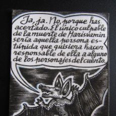 Cómics: ERNESTO CARRATALÁ. DIBUJANTE VIBORA. ORIGINAL A TINTA. 10,5 X 8 CM. Lote 181194327
