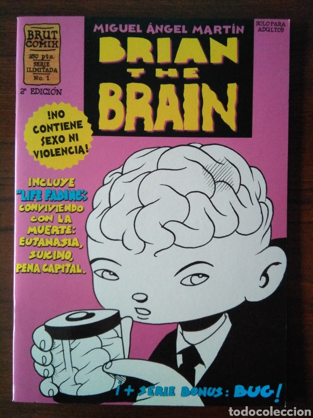 Cómics: Brian the brain - Miguel Angel Martin - bug - Ediciones La Cúpula 1995-1998 - Foto 2 - 181347057
