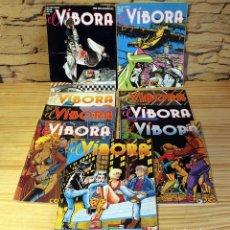 Cómics: LOTE DE 9 REVISTAS DE EL VIBORA. Lote 181593516