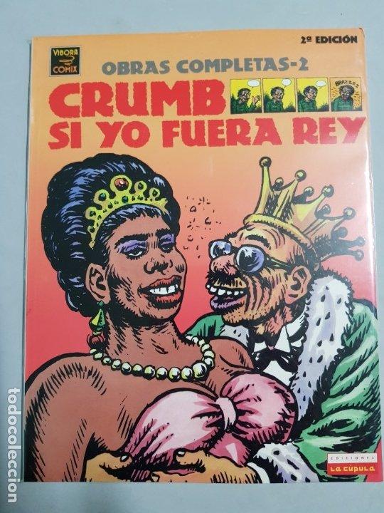 CRUMB SI YO FUERA REY OBRAS COMPLETAS ESTADO MUY BUENO NEGOCIABLE (Tebeos y Comics - La Cúpula - Comic USA)