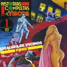Cómics: ESCALERA DE VECINOS. PONS. HISTORIAS COMPLETAS EL VIBORA 1.. Lote 184730746