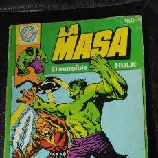 Cómics: LA MASA EL INCLEIBLE HULK POCKET DE ASES BRUGUERA Nº4. Lote 186136912