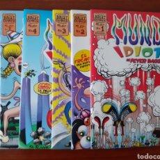 Cómics: MUNDO IDIOTA - NÚMEROS 1 AL 6 - PETER BAGGE - 1A Y 2A EDICIÓN. Lote 192014801