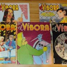 Cómics: LOTE DE 5 NÚMEROS DE EL VÍBORA. Nº 53, Nº 55, Nº 88, Nº 265 Y Nº 266. Lote 192594560