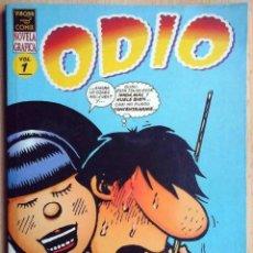 Cómics: ODIO. VOLÚMEN 1 (PETER BAGGE) VIBORA COMIX. EDICIONES LA CÚPULA 1995. Lote 192686655