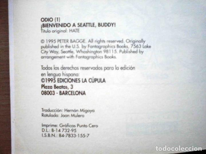 Cómics: Odio. Volúmen 1 (Peter bagge) Vibora Comix. Ediciones La Cúpula 1995 - Foto 3 - 192686655