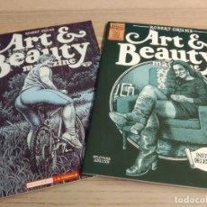 Comics: ART & BEAUTY MAGAZINE 1 Y 2 . ROBERT CRUMB. BRUT COMIX. Lote 193382278