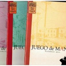 Cómics: JUEGO DE MANOS - JASON LUTES - VOLUMEN 1.2 Y 3. COMPLETA. BRUT COMIX. PERFECTOS.. Lote 193772620