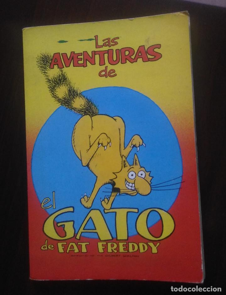 G. SHELTON -LAS AVENTURAS DE EL GATO DE FAT FREDDY Nº2 - EDICIONES LA CUPULA BOLSILLO -1981 (Tebeos y Comics - La Cúpula - Comic USA)