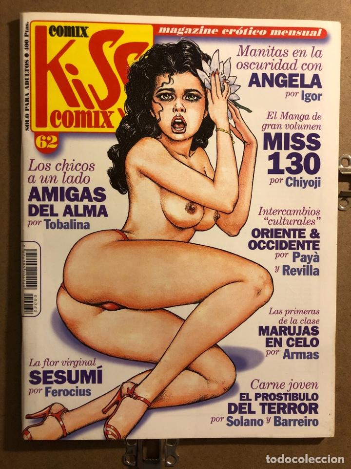COMIX KISS COMIX N° 62 (EDICIONES LA CÚPULA 1991). MAGAZINE ERÓTICO MENSUAL. (Tebeos y Comics - La Cúpula - Autores Españoles)