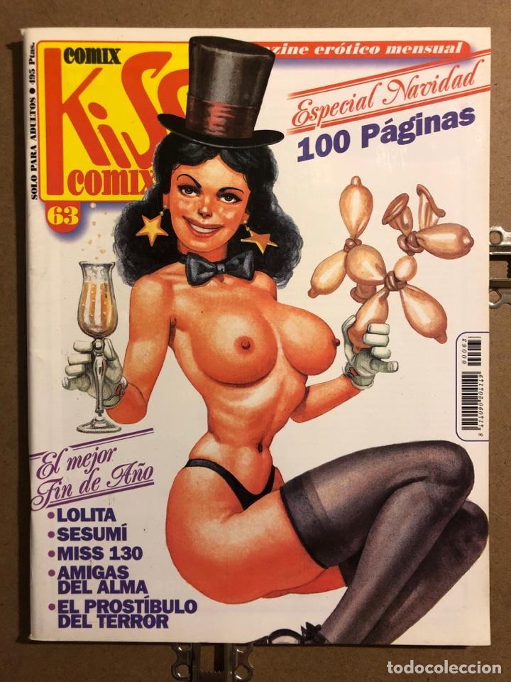 COMIX KISS COMIX N° 63 (EDICIONES LA CÚPULA 1991). MAGAZINE ERÓTICO MENSUAL ESPECIAL NAVIDAD (Tebeos y Comics - La Cúpula - Autores Españoles)