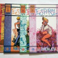 Comics : ESPIRAL VOL. 1 # 1 - 4 (BRUT COMICS) POR DAVID LOPEZ (COMPLETA) - 1998. Lote 195563631